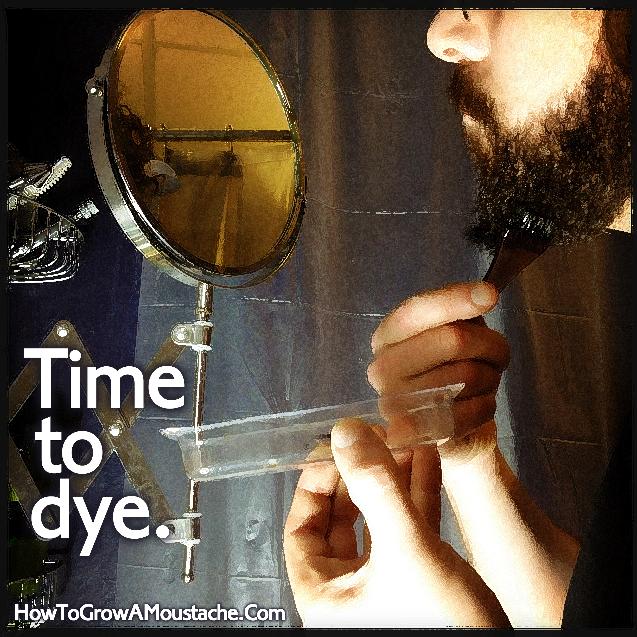 Coloring Your Beard or Moustache: Ready to Dye Pt II | How to Grow a ...