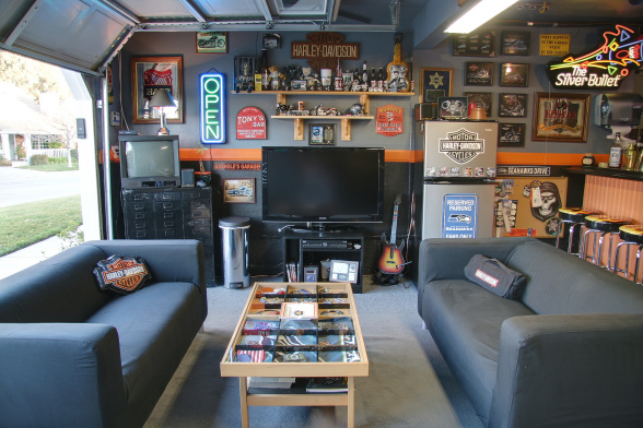 Turning Your Garage Into A Man Cave